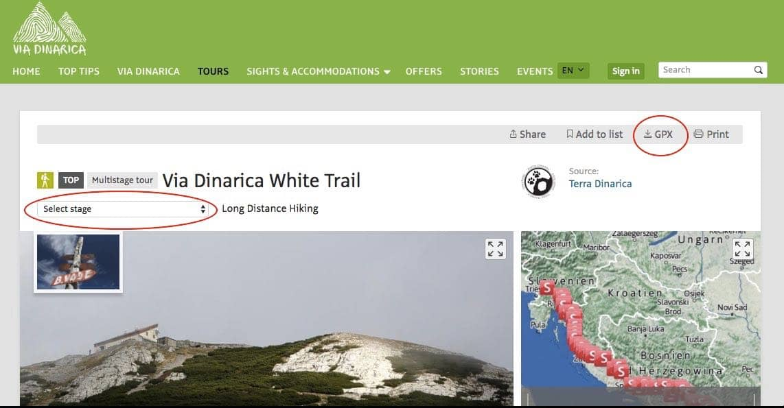 Via Dinarica Trail Website Via Dinarica Trail Guide