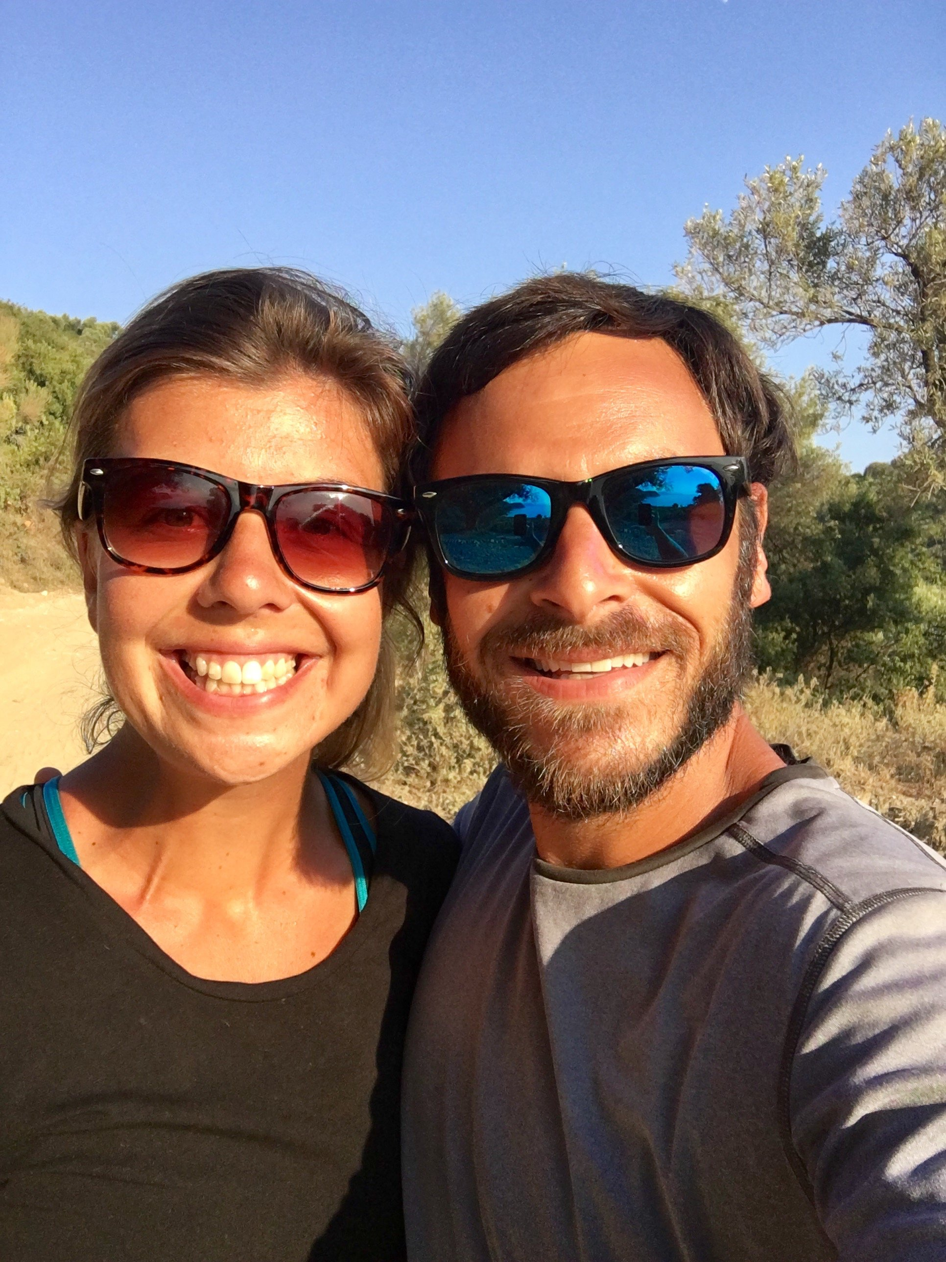A happy couple on our road trip in Albania