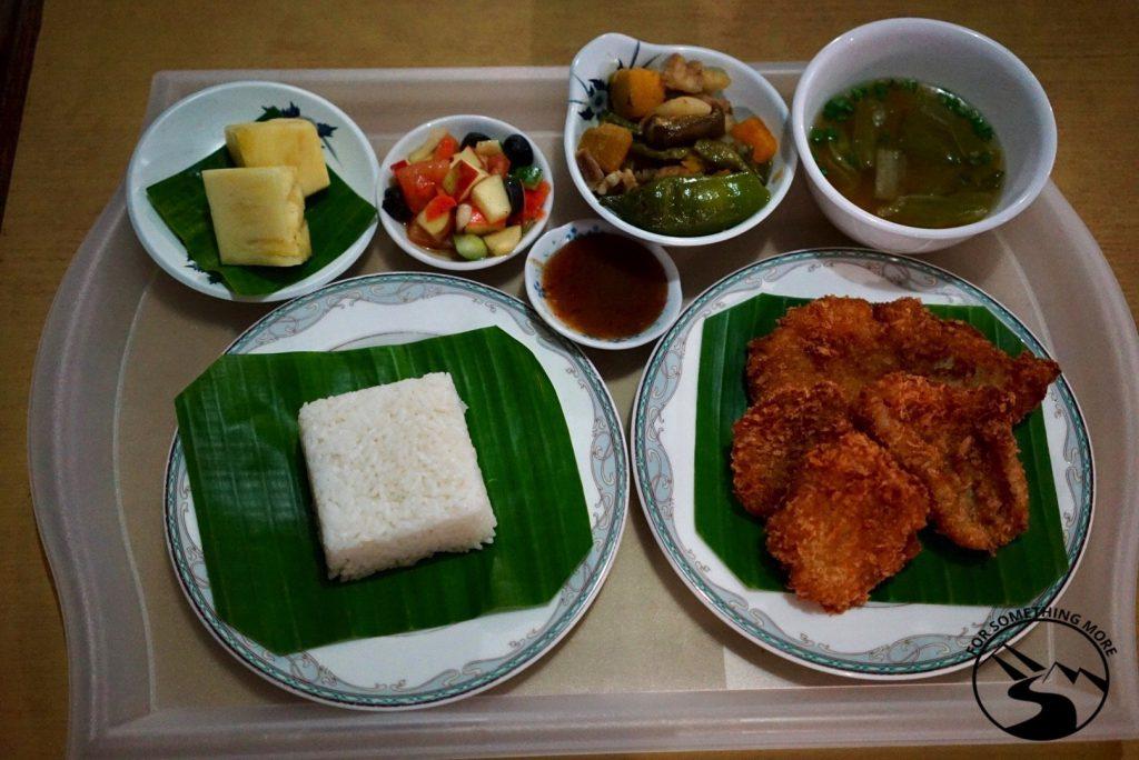 Food at Carp Island Resort in Palau