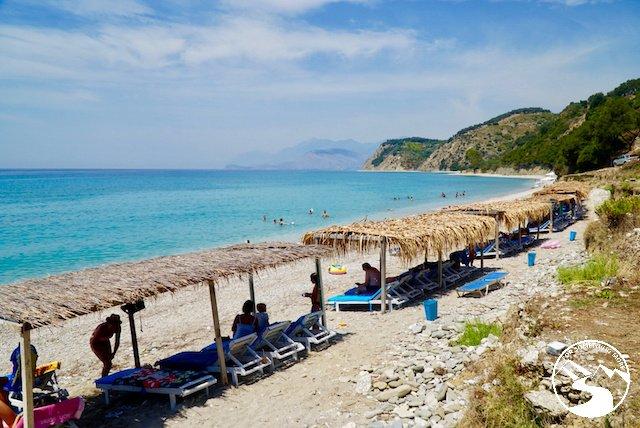 A secluded beach near the Adrian Agustin Rooms in Albania