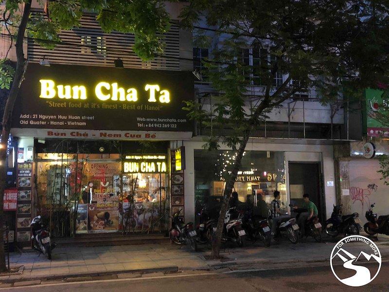 Bun Cha Ta serves great Bun Cha one of the best street food in Hanoi