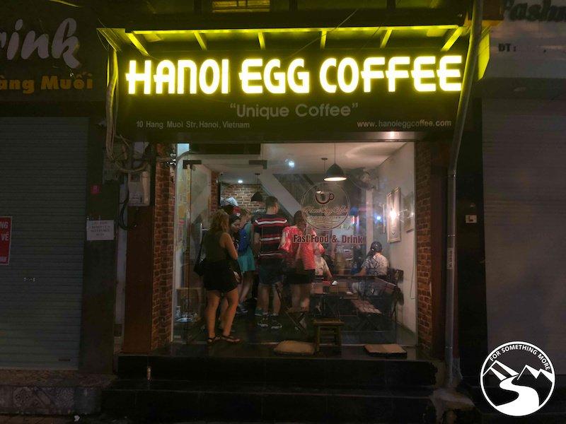 Hanoi Egg Coffee is delicious