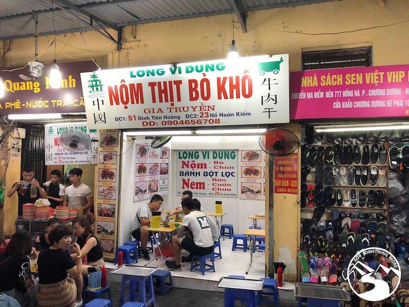 The Nom Bo here is the best in Hanoi