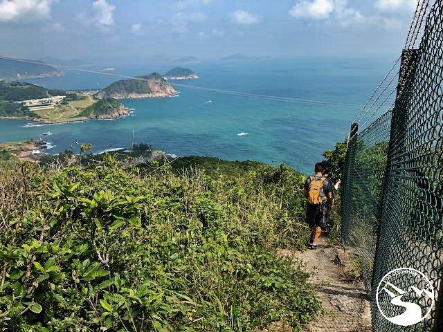 hiking along a fence line