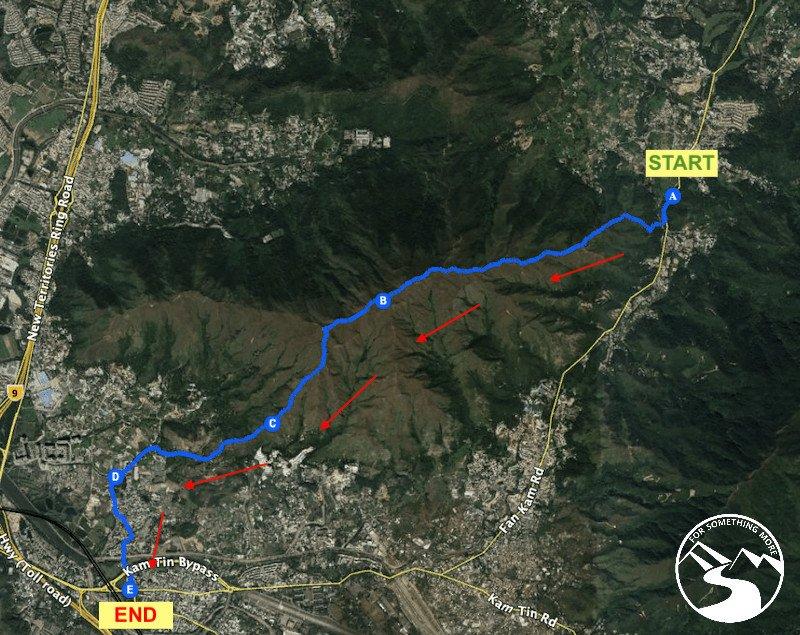 Hike Lam Tsuen Country Park Kai Kung Leng route map