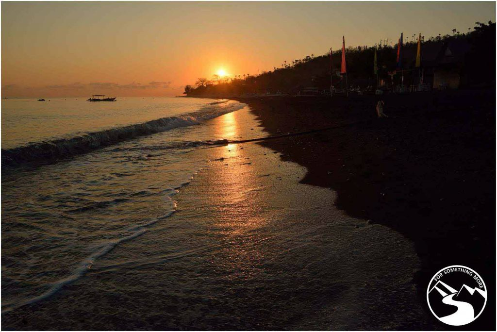 A sunset while on travel to Amed in Bali