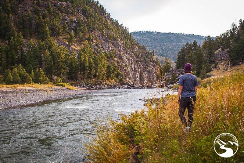 woman in Yellowstone