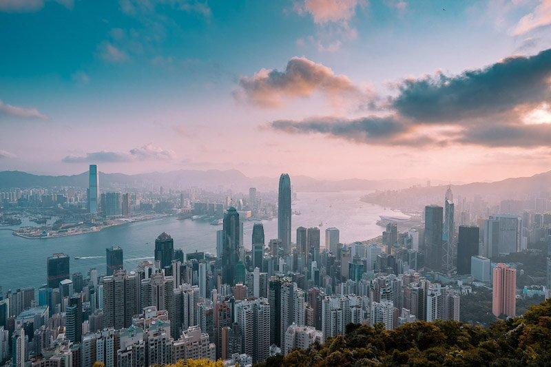 hong kong sky line