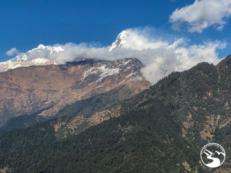 view of machapuchare from ghorepani