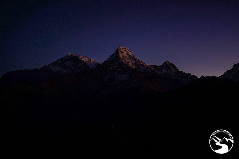 morning photo of the Annapurna Range
