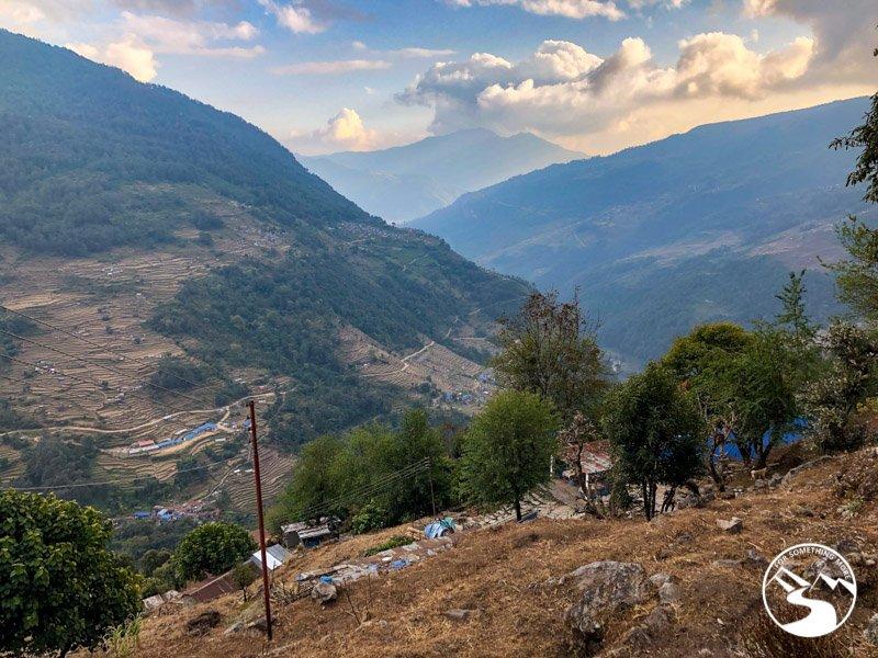 views looking back to Nayapul