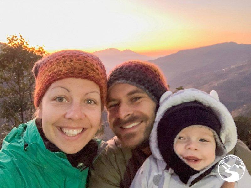 family sunrise photo