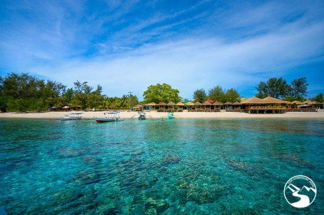 Beachside bungalows Gili Islands Bali