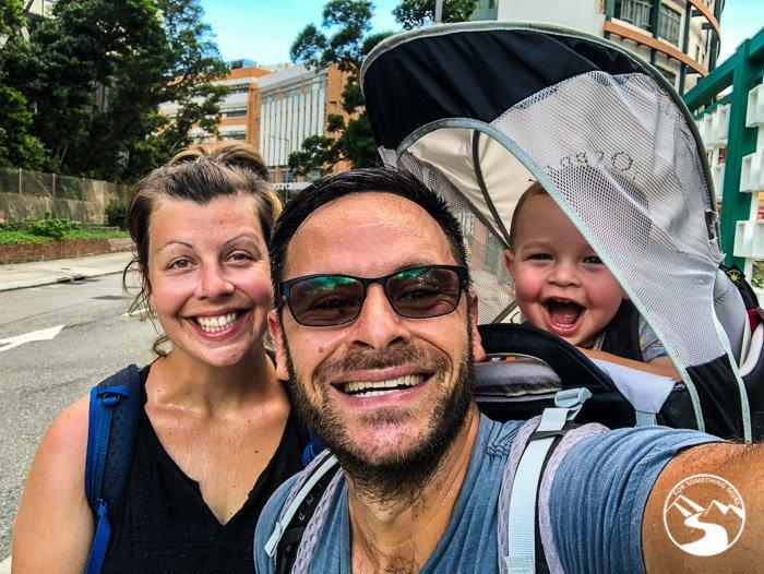 family selfie on Sir Cecil's Ride Stream