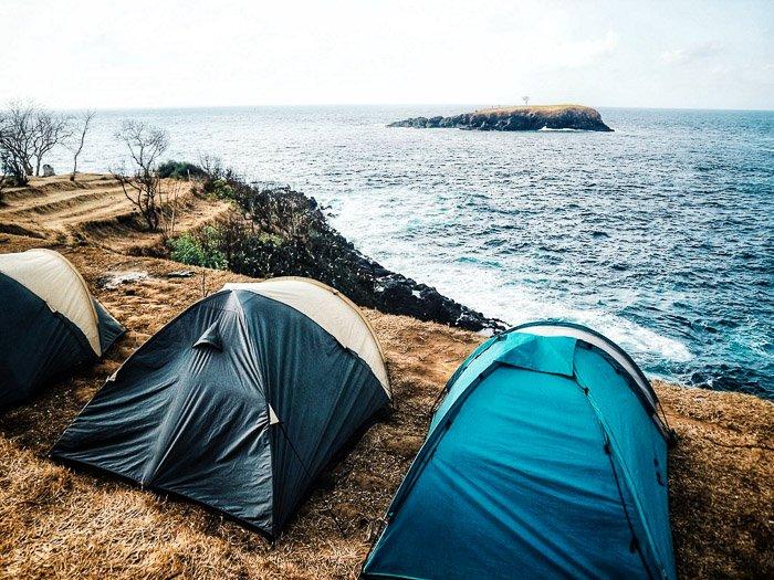 seaside camping in Goa India