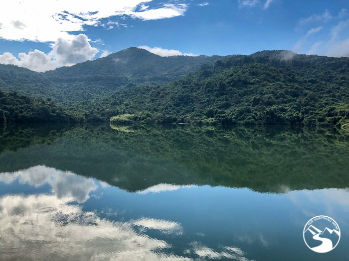 The Ho Pui Reservoir reflects the sky