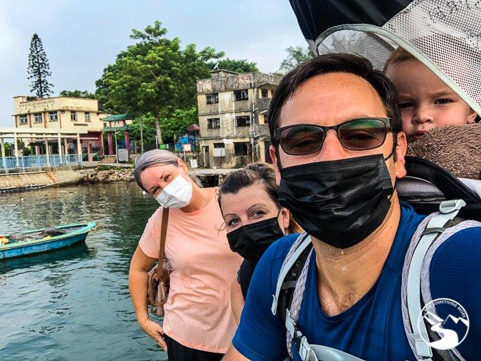 a selfie on Ma Wan (馬灣)