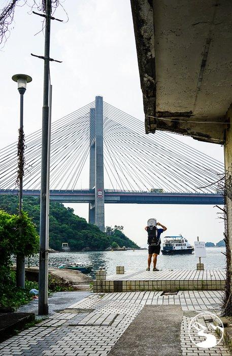 the Tsing Ma Bridge