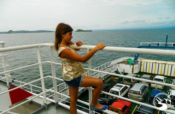the ferry to Playa Tambor
