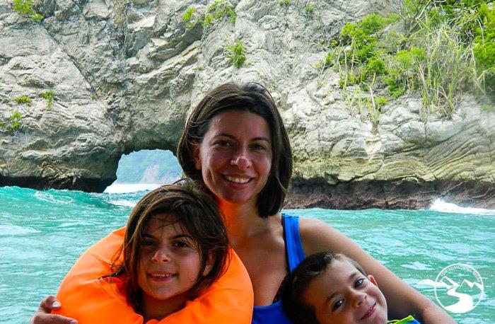 family photo at Nicoya Bay Road Trip Costa Rica