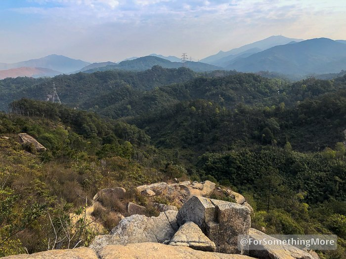 view north from tai lam country park
