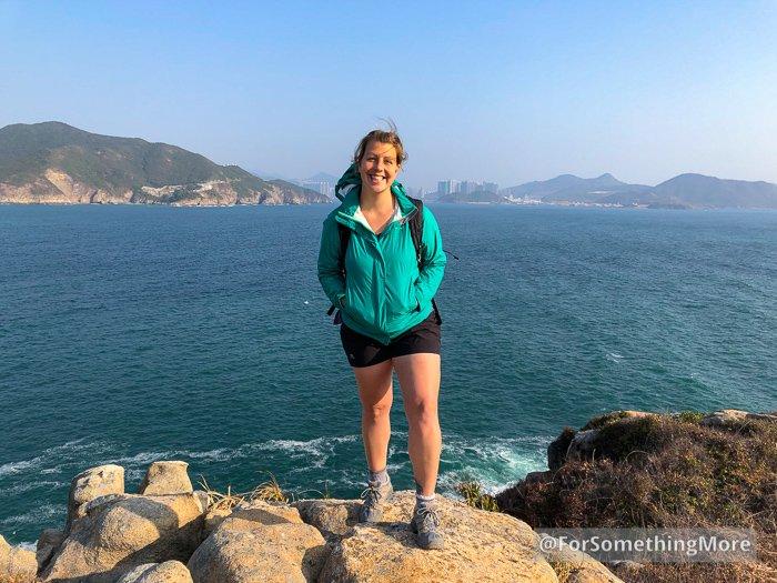 woman standing on Tai Tau Chau (大頭洲)