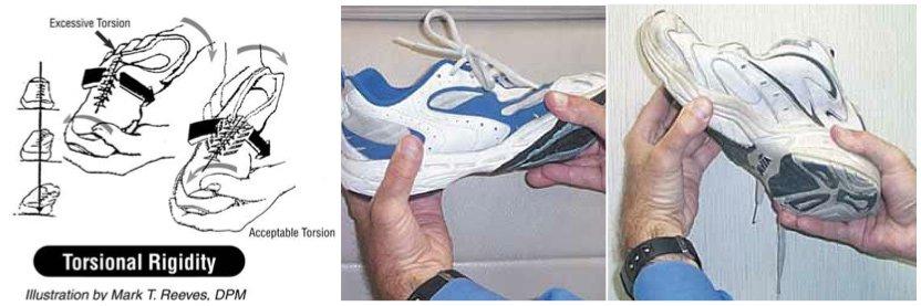 torsional rigidity shoe test