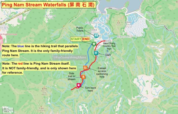Ping Nam Stream map